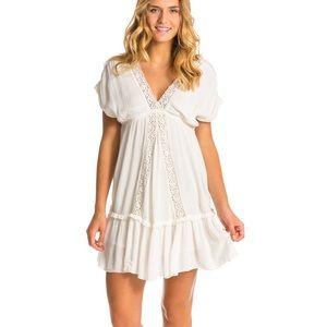 O'Neill London Gauze Boho Mini Dress White Medium